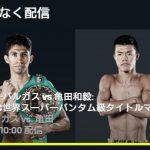 亀田和毅 試合予定 7月14日の対戦相手は?ライブ中継の試合を無料で見る方法とは?